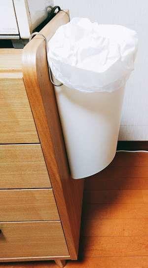 浮かせたゴミ箱