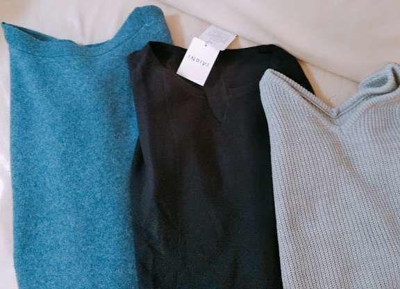 体型変化で買い足した冬服